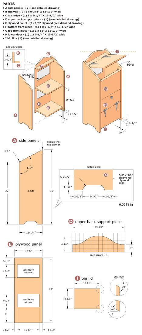 Free potato bin woodworking plans Image