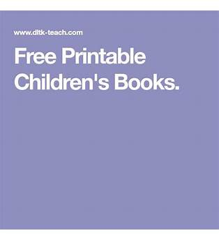 Free Printable Children S Books