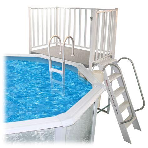Free standing pool deck Image