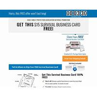 Free survival business card offer converts 9 4 experience