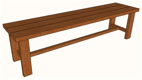 Free wooden bench patterns Image