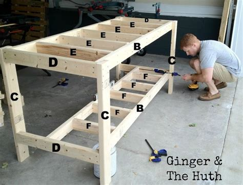 Free woodworking bench table plans Image