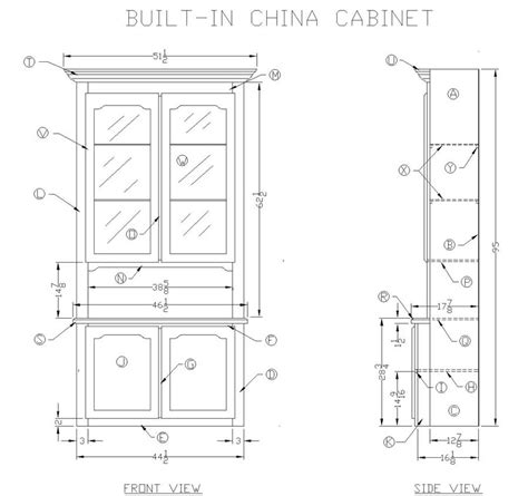 Free woodworking plans for china hutch Image