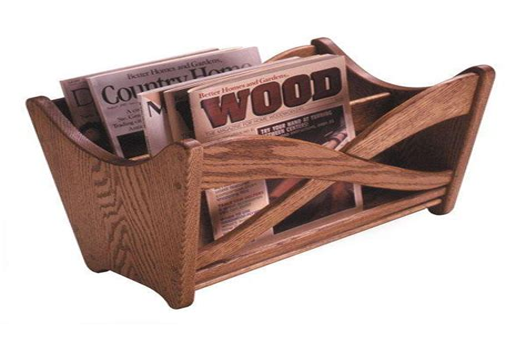Free woodworking plans magazine rack Image