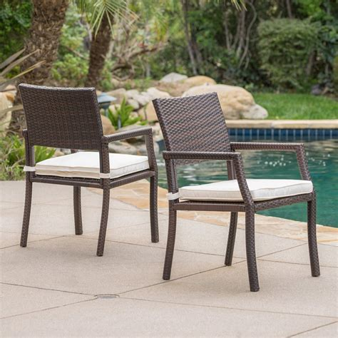 Freitag Patio Chair with Cushions (Set of 2)