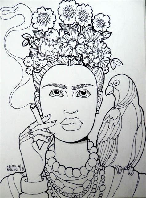 Frida Kahlo Malvorlage
