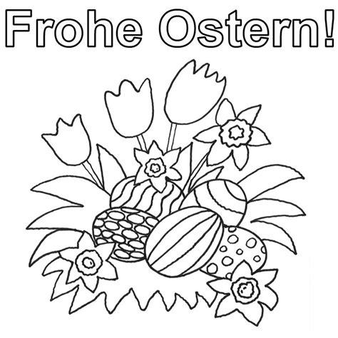 Frohe Ostern Malvorlage