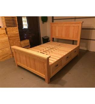 Full Bed Frame With Storage Plans
