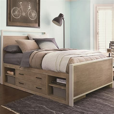 Full bed with storage Image