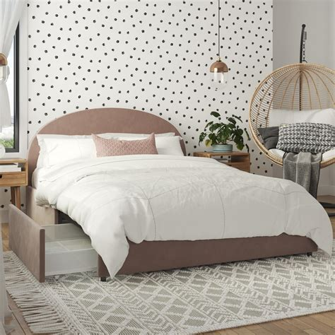 Full size bed frame with storage Image