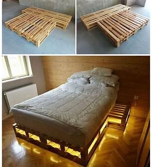 Full Size Pallet Bed Plans