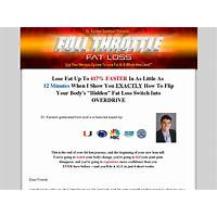 Full throttle fat loss huge commissions launching now coupon codes