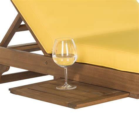 Fullerton Reclining Chaise Lounge with Cushion with Table