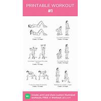 Fully illustrated workout plans by your fitness tools promo
