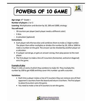 Fun Math Games For 6th Graders Online Free