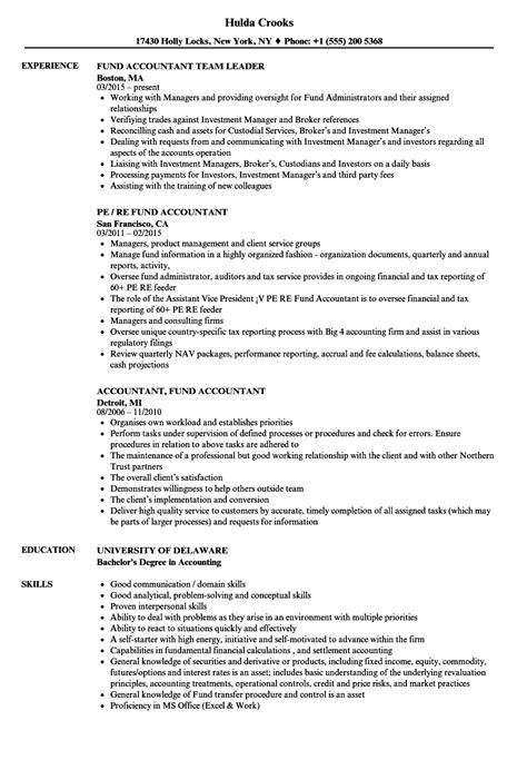 Fund Accounting Manager Resume Sample | Normal Resume Format Pdf