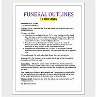 Funeral sermon outlines instruction