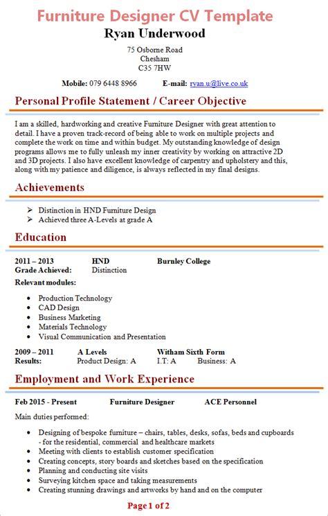 furniture design resume.aspx Image