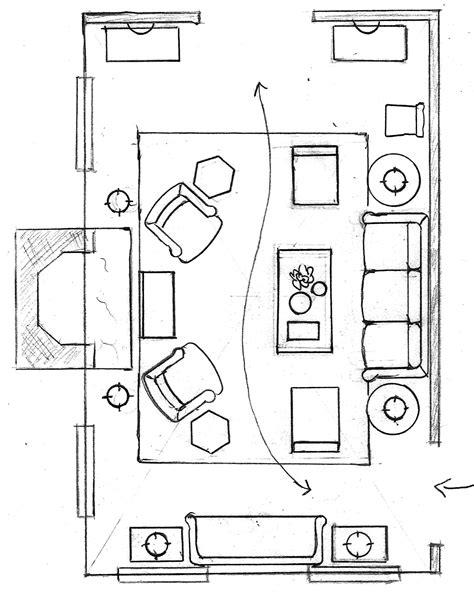 Furniture arrangement plans Image