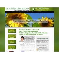Future health now! dr carolyn dean's 2 yeartotal wellness program online tutorial