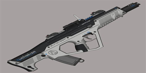 Futuristic Assault Rifle Concept