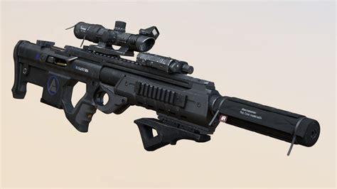 Futuristic Scoped Rifle