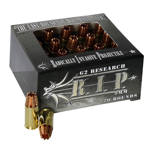 G2 Research Rip 9mm Ammunition 20 Rounds Hp 92 Grains