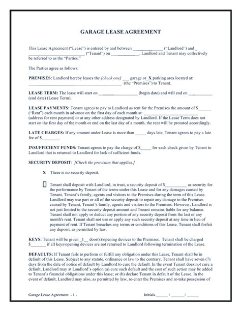 Garage Lease Agreement Sample Make Your Own Beautiful  HD Wallpapers, Images Over 1000+ [ralydesign.ml]
