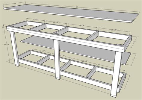 Garage bench plans Image
