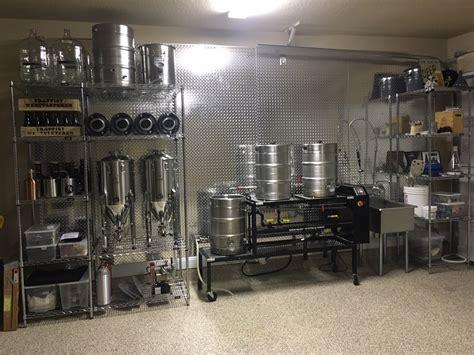 Garage design home brewing setup Image