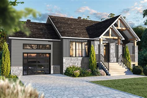 Garage plans attached to house Image