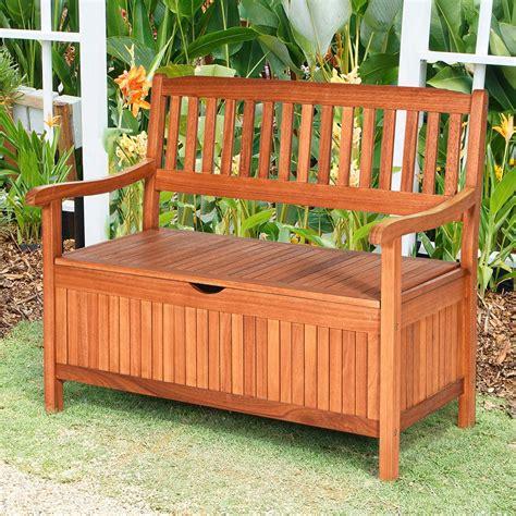 garden wooden bench with storage.aspx Image