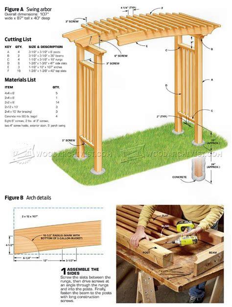 Garden arbor woodworking plans Image
