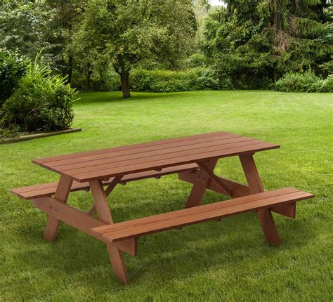 Garden bench and table Image