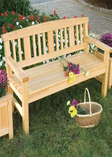 Garden bench plans Image