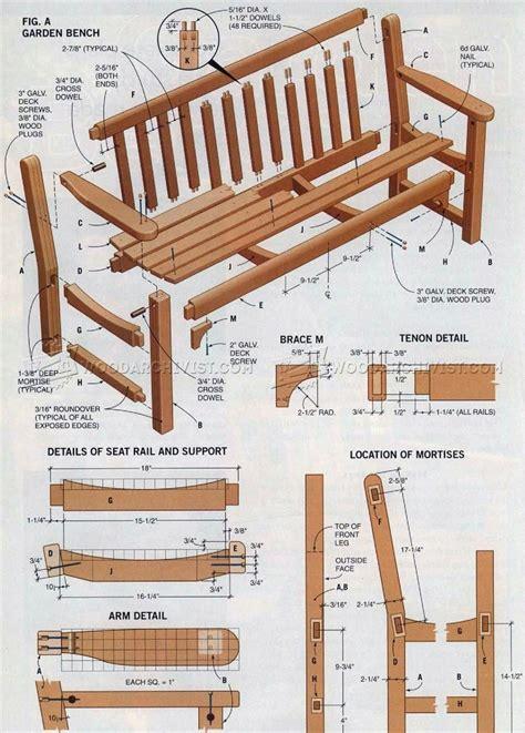 Garden bench plans wooden bench plans Image
