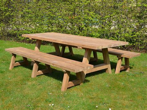 Garden bench table Image