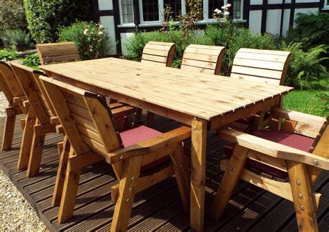Garden table and chairs wooden Image