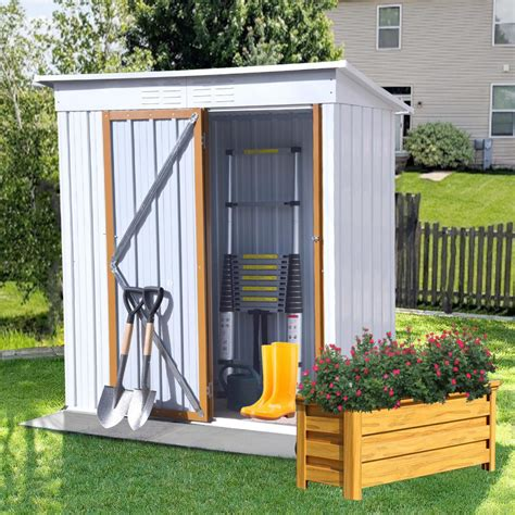 Garden tool storage shed Image