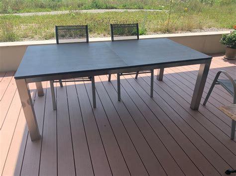 Gartentisch Steinplatte