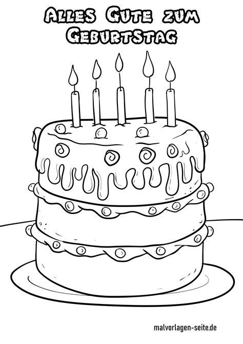 Geburtstag Malvorlage