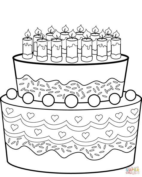 Geburtstagskuchen Malvorlage