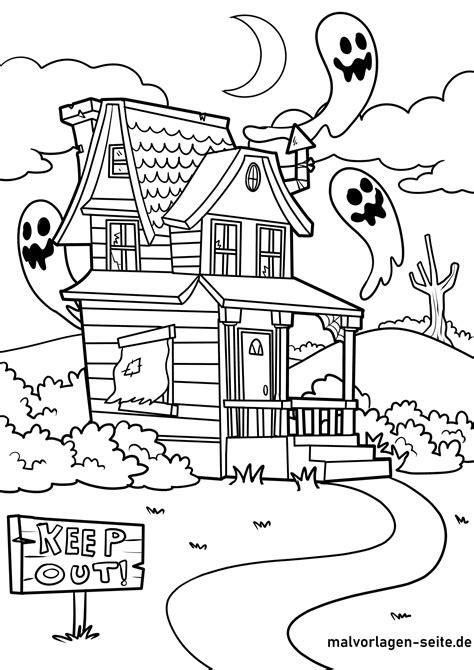 Geisterhaus Malvorlage