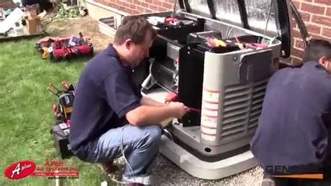 Generac 22 kw standby generator installation by aplus air systems inc Image