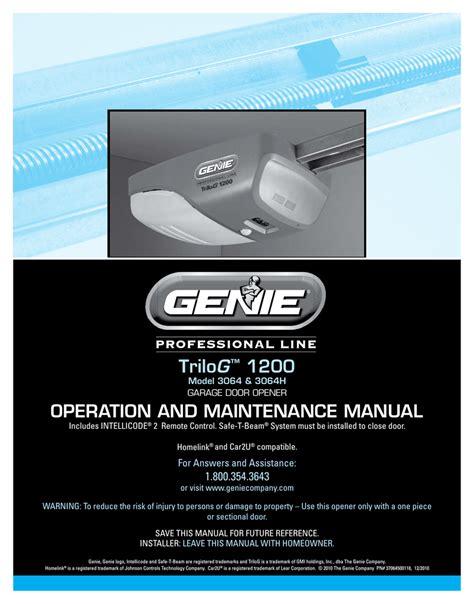 Genie 1000 Garage Door Opener Manual Make Your Own Beautiful  HD Wallpapers, Images Over 1000+ [ralydesign.ml]