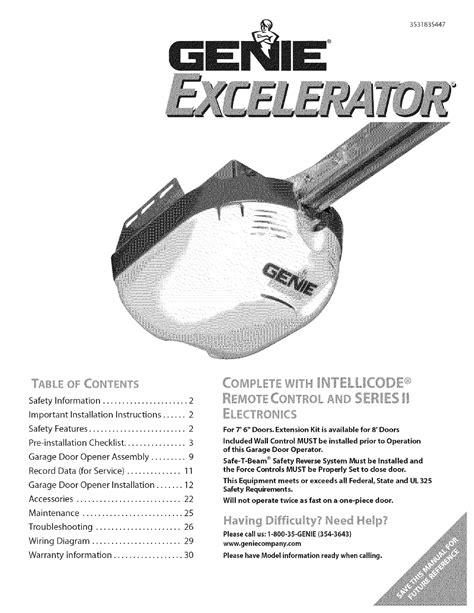 Genie Garage Door Opener Manuals Make Your Own Beautiful  HD Wallpapers, Images Over 1000+ [ralydesign.ml]