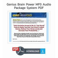 Genius brain power mp3 audio package free tutorials