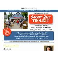 Get organized now! garage sale toolkit scam?