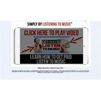 Get paid to listen to music? great conversions! upsells downsells! bonus