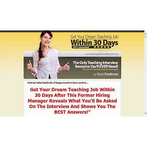 Get your dream teaching job within 30 days is it real?